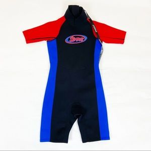 Stearns Short Youth Black Red Blue Wet Suit L